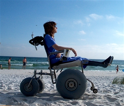 De Bug Beach Wheelchair Stainless Steel All Terrain