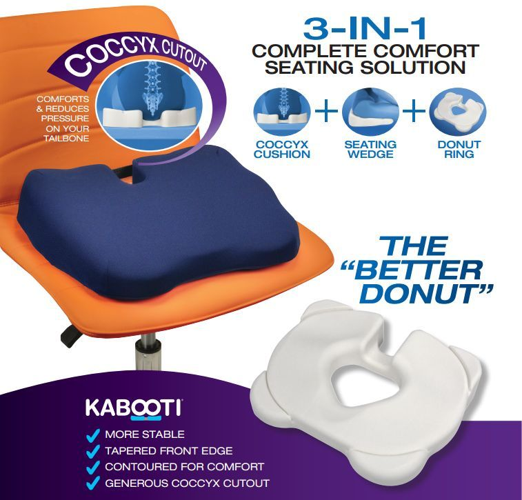 Kabooti Orthopedic Coccyx Seat Cushion